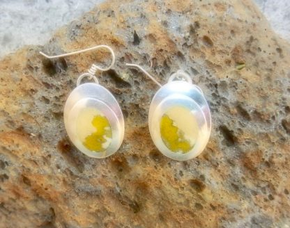 Stone Color Champleve Earrings