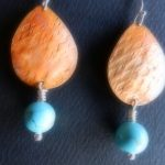 Turquoise and Copper Earrings