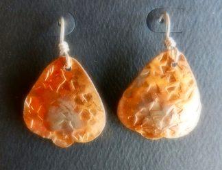 Bell Shape Copper Earrings on Sterling Silver Ear Wires