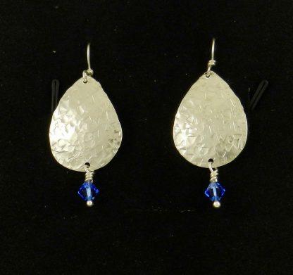 Fine Silver with Swarovski Crystal Earrings
