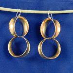 Large Sized Darcie Style Earrings in Brass