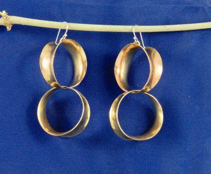 Darcie Style Earrings in Brass